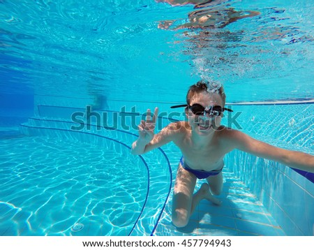 Woman Swimming Mask Blue Bikini Swimming Stock Photo 529557751 Shutterstock