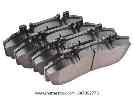 brake pads isolated on white background