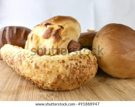 Bread bun and sausage