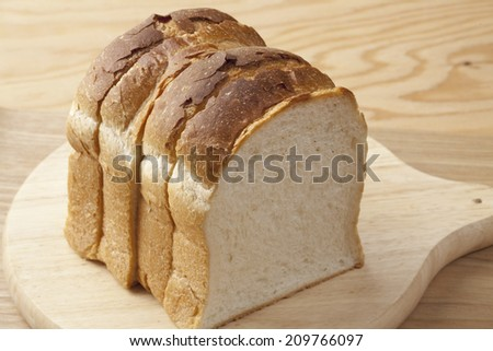 Bread cut with Knife