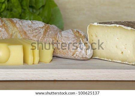 Bread with Emmental and Tomme Cheese
