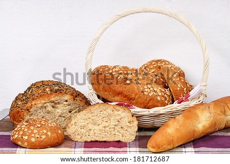 breads with sesame seeds