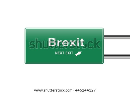 Brexit road sign.