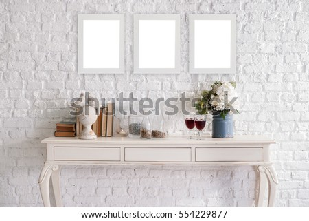 brick white wall interior decoration and design for home office hotel - Brick Hotel Decoration