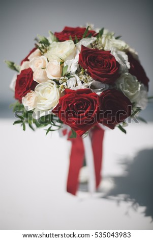 Bridal bouquet on a white background.