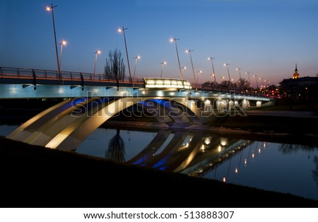 Bridge in Rzeszow, city in Poland