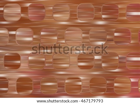 Bright abstract mosaic brown background with gloss. illustration digital background.