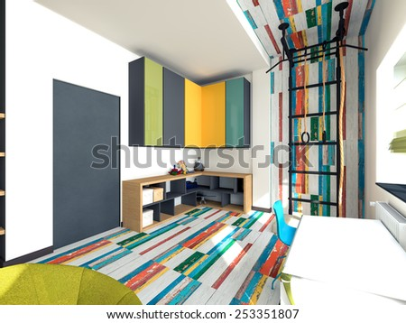 bright colored playroom