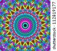 Bright colorful kaleidoscope pattern. - stock photo