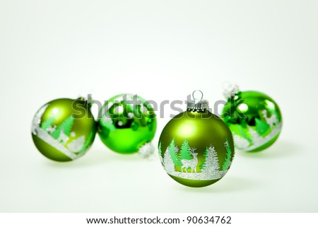 Bright green ornament on clear background for your own text.