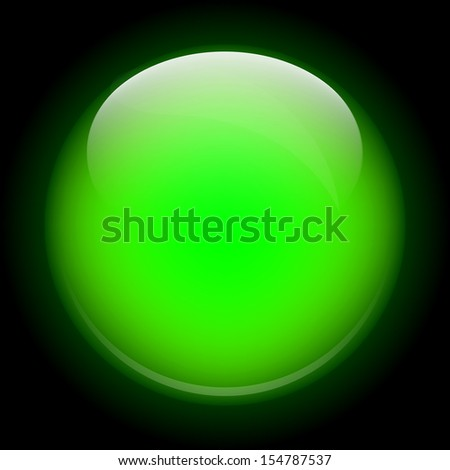 bright green sphere on a black background
