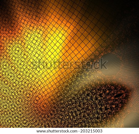 Bright orange abstract background with an interesting abstract geometric pattern