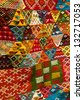 Bright paints of the Moroccan and berber carpets - stock photo