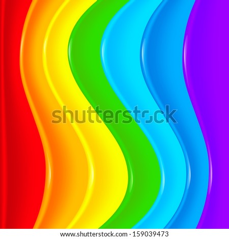 rainbow color twisted waves - photo #19
