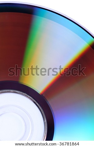 Bright red yellow shining colorful CD