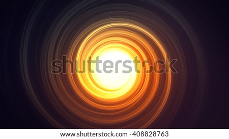 Bright Round Abstraction