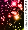 Bright sparkling background with several glowing and twinkling stars - stock vector
