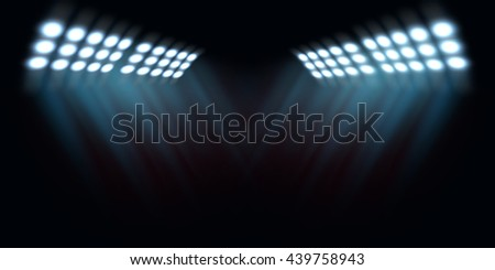 bright spotlights, stadium lights