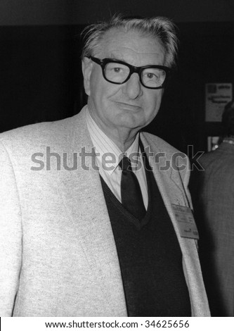 BRIGHTON, ENGLAND-OCTOBER 5: Eric Heffer, veteran Labour party Member of Parliament for Walton, visits the party conference on October 5, 1989 in Brighton, Sussex.