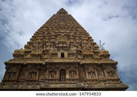 Brihadeeswarar Temple in Thanjavur, Tamil Nadu, India.