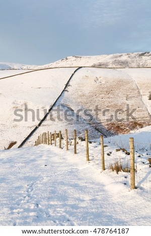 British countryside in winter