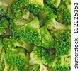 Broccoli background - stock photo