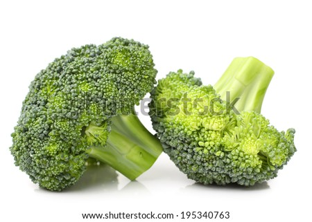 Broccoli isolated against white background