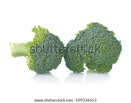 Broccoli still life on a white background
