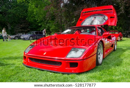 BRODIE, SCOTLAND - AUGUST 14: Ferrari F40 on August 14, 2016 in Brodie, Scotland.