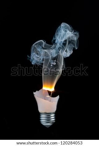 how to break a light bulb to smoke