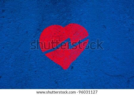Broken Graffiti Heart Stock Photos, Illustrations, and Vector Art