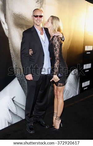 "Brooke Burns and Gavin O'Connor at the Los Angeles premiere of ""Warrior"" held at the ArcLight Cinemas in Hollywood, USA on September 6, 2011."