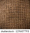 Brown bathroom carpet texture or background - stock photo