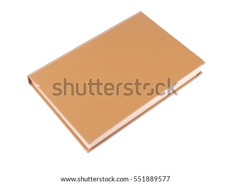 brown book on a white background