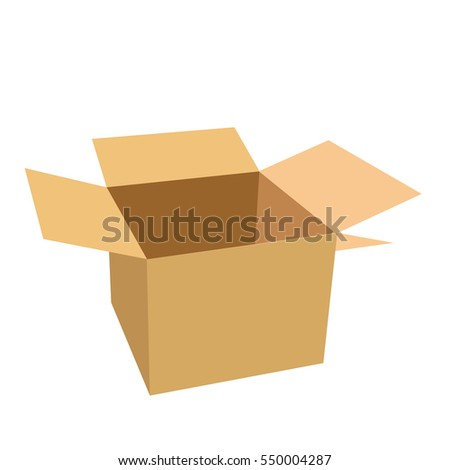 Brown box package illustration.