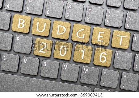 Brown budget 2016 key on keyboard