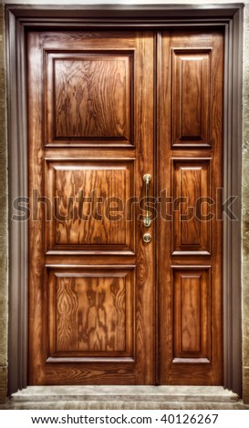 Brown closed Door