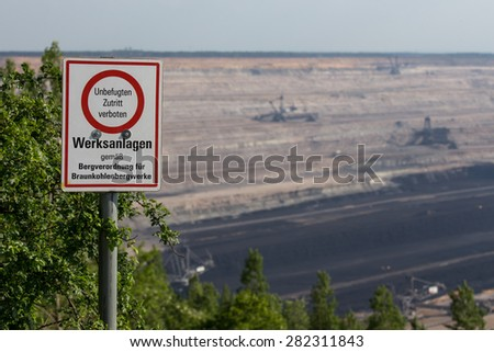 brown coal open cast mining hambach germany