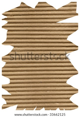 Brown corrugated paper sheet background