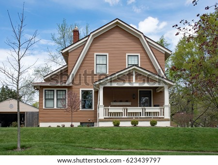 Large Gambrel Roof House Stock Photo 57876181 Shutterstock