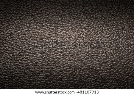 Brown leather texture background for design with copy space for text or image. Pattern of leather that occurs natural.