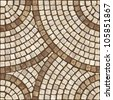 Brown marble-stone mosaic texture. (High.res.) - stock photo