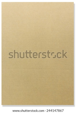 Brown paper card board vertical for background. paper texture. paper background