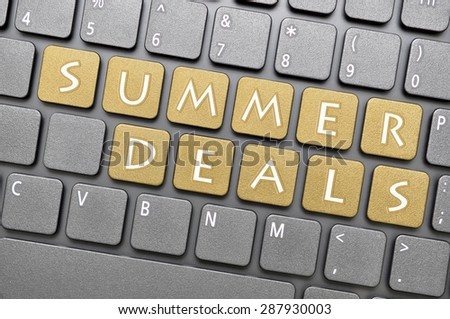 Brown summer deals key on keyboard