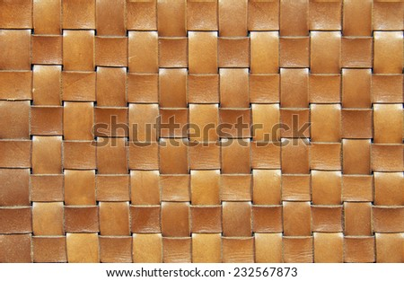 Brown woven leather background