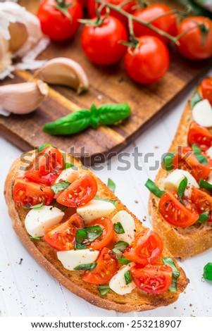 Pizza Prosciutto Tomato Pepperoni Black Olives Stock Photo ...
