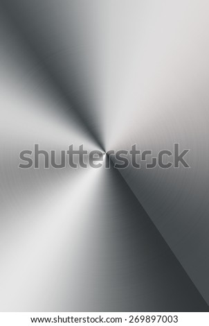 Brushed metal background.