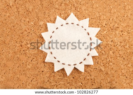 bubble fabric on cork board