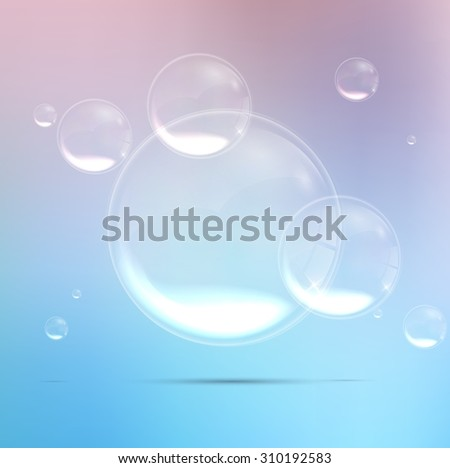 Bubbles background in blue water