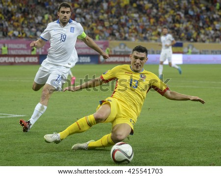 BUCHAREST, ROMANIA - SEPTEMBER 7, 2015: Claudiu Keseru  pictured during European Qualifier game between Romania and Greece at National Arena.
